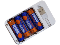 4 AA Ni-MH rechargeable batteries